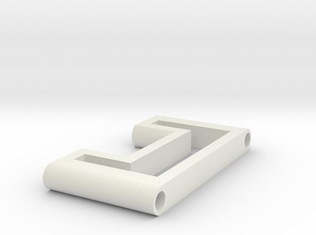 Lightweight Side Panel in White Natural Versatile Plastic