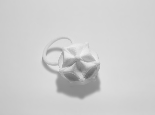 Phyllis -Ring- in White Strong & Flexible Polished