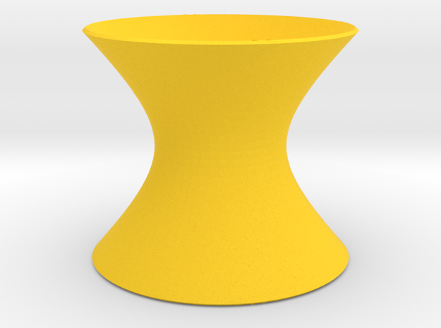 Hyperboloid 1 Sheet: Tiny in Yellow Strong & Flexible Polished