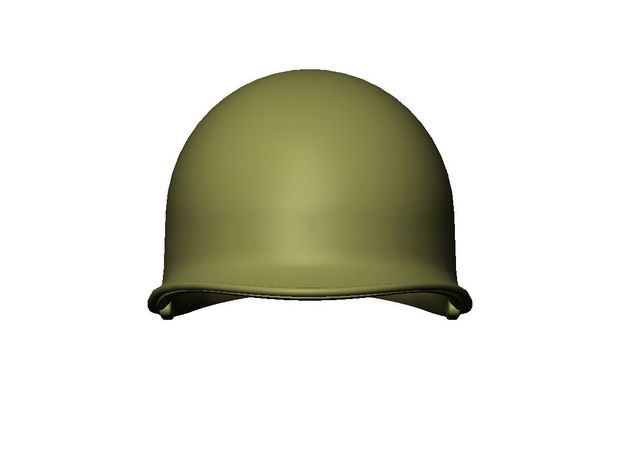 M1 Helmet (set of 3) 1-16 Scale in Frosted Extreme Detail