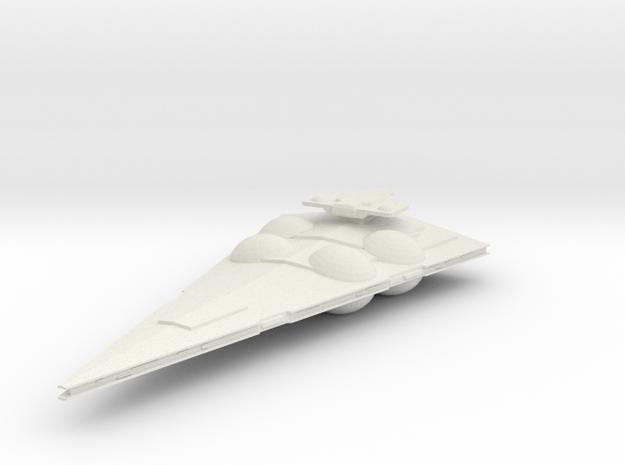 Interdictor-class Medium Frigate in White Natural Versatile Plastic
