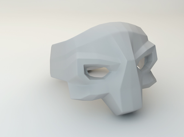 Skull ring in White Natural Versatile Plastic