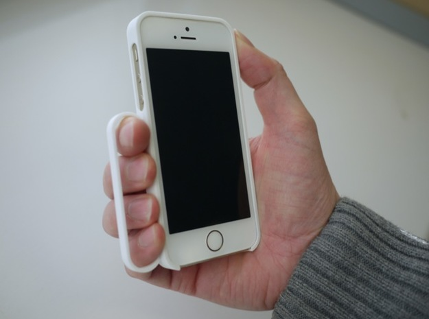 secureGrip for iPhone 5/5s in White Natural Versatile Plastic
