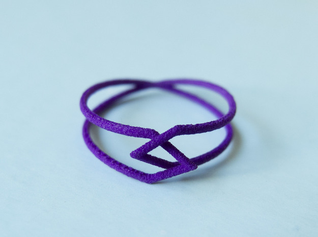 Interlocking Triangles Ring in Purple Processed Versatile Plastic: 8 / 56.75