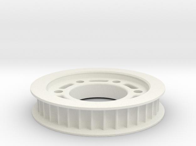 Riemenrad Hinten 36Z DS 5mm in White Natural Versatile Plastic