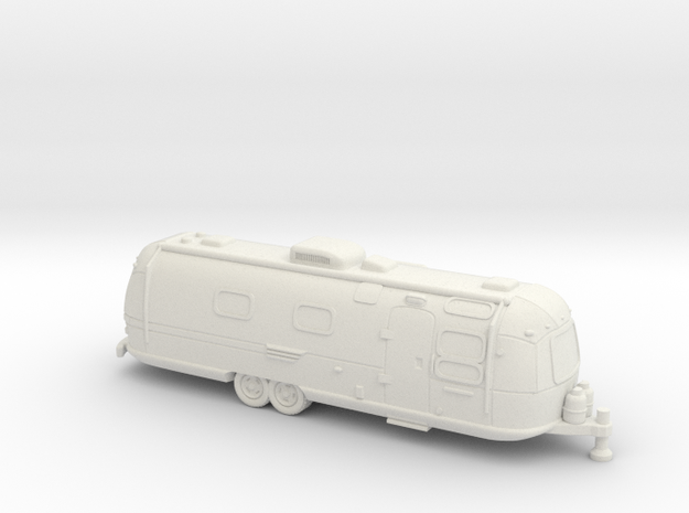 HO Gauge - Classic American Trailer in White Strong & Flexible