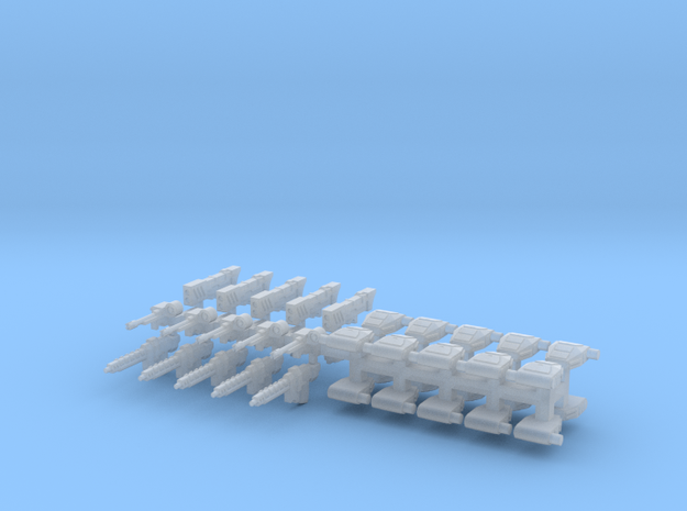 15mm Sci-Fi Heavy Infantry Weapons (45pcs) 3d printed