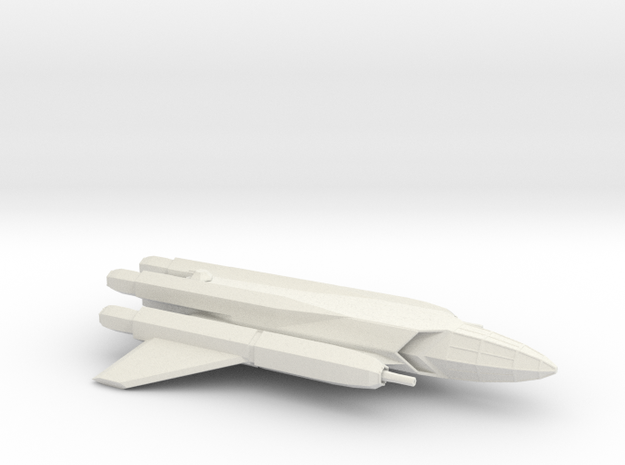 Artemis-Class Long Range Reconaissance Figher in White Natural Versatile Plastic
