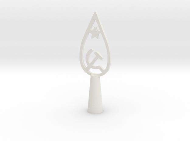 USSR Vintage flag tip in White Natural Versatile Plastic