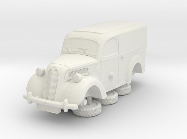 1-76 Ford Anglia E494a Van in White Natural Versatile Plastic