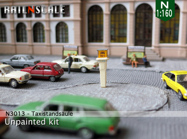 Taxirufsäule (N 1:160) in Frosted Ultra Detail