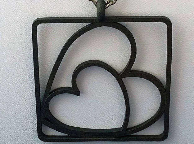 TOGETHER PENDANT STEEL in Matte Black Steel