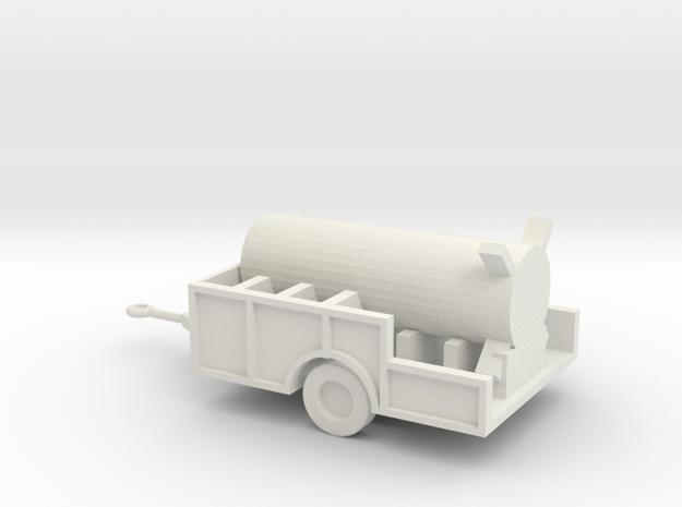 1/110 Scale Redstone Control Unit In Trailer in White Natural Versatile Plastic