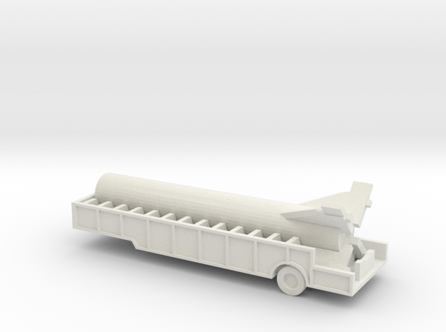 1/110 Scale Redstone Trailer With Boster in White Natural Versatile Plastic