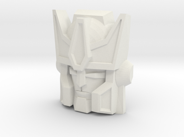 Tigatron Face (Titans Return) in White Natural Versatile Plastic