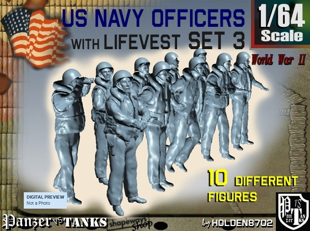 1-64 USN Officers KAPOK Set3 in Frosted Ultra Detail
