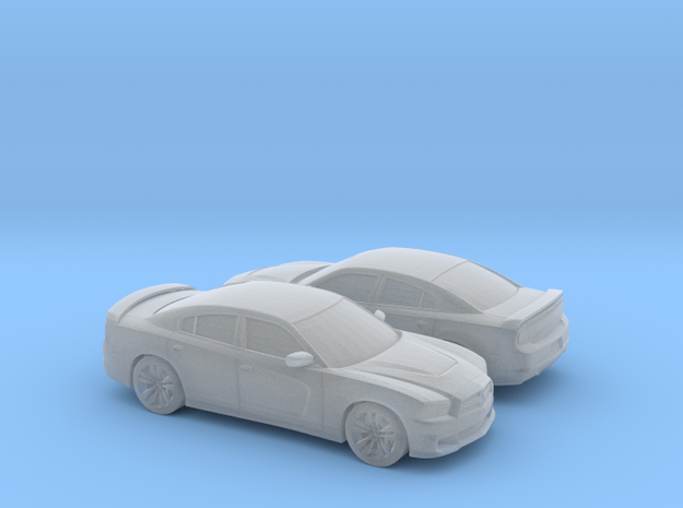1/160 2X 2012 Dodge Charger in Smooth Fine Detail Plastic