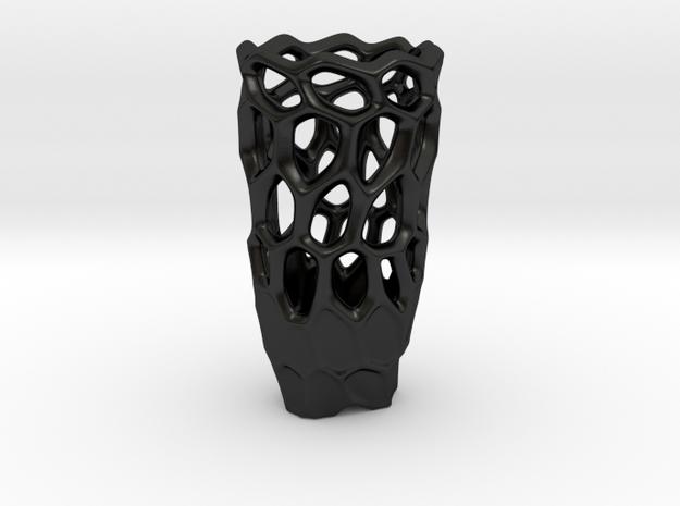 DPS VORONOIVASE WALLED in Matte Black Porcelain