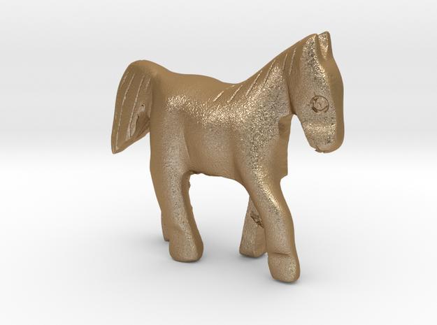 Horse in Matte Gold Steel