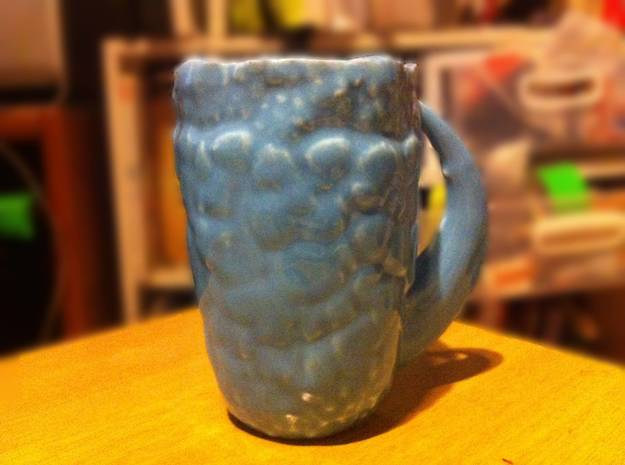 Dinosaur Skin Mug in Gloss Oribe Green Porcelain