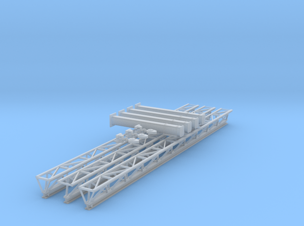 O Scale Fall Protection Truss in Smooth Fine Detail Plastic