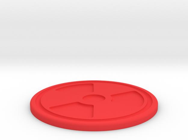 Rad Symbol Coaster in Red Processed Versatile Plastic