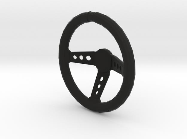 1/10 scale steering wheel in Black Natural Versatile Plastic