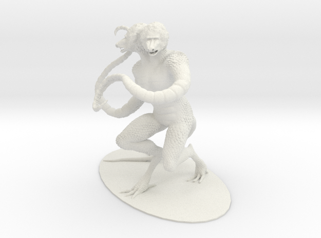 Demogorgon Miniature in White Strong & Flexible: 1:60.96