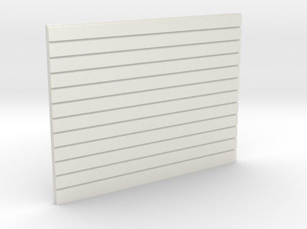 Wood planking OO 4mm scale in White Natural Versatile Plastic