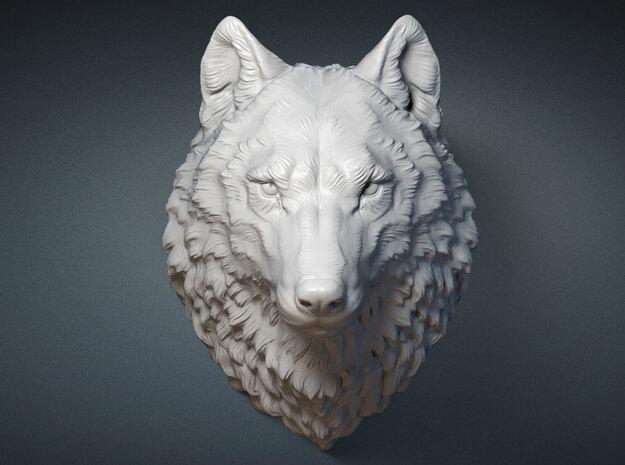 Proud Wolf head. 15cm