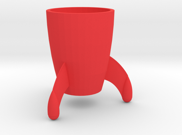 Coffee mug #8 - Tintin rocket in Red Strong & Flexible Polished