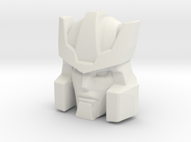 Galvatron Face, Normal Sized (Titans Return) in White Natural Versatile Plastic