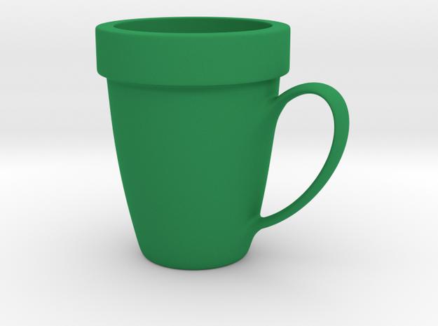 Coffee mug #9 XL - Super Mario warp pipe in Green Processed Versatile Plastic