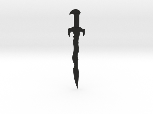 Dread Sword in Black Natural Versatile Plastic