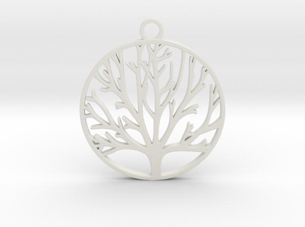 Tree of Life  in White Natural Versatile Plastic