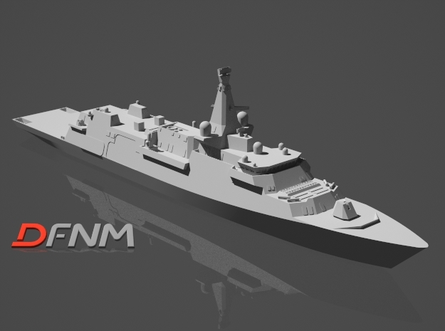 Type 26 Global Combat Ship in White Natural Versatile Plastic: 1:700
