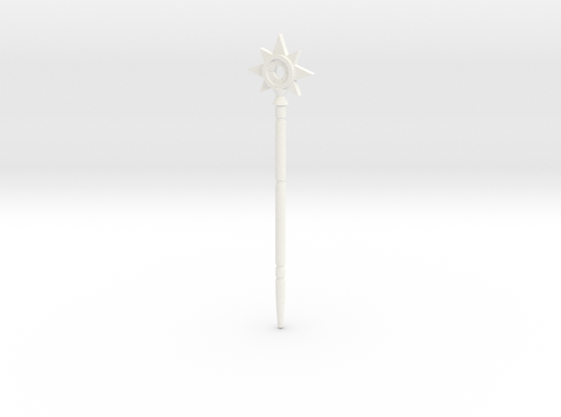 "Magic wand of Trollan ""star"" in White Processed Versatile Plastic"