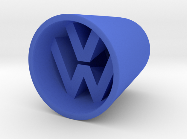 VW Shotglass in Blue Strong & Flexible Polished