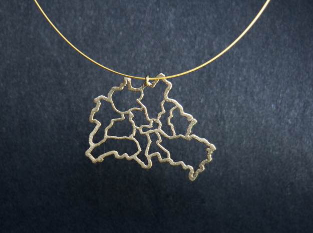 Berlin Pendant in Natural Brass