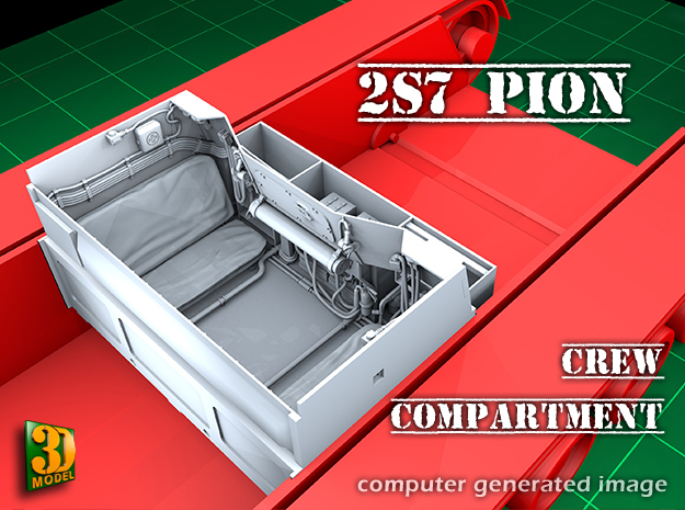 2S7 PION Crew Compartment (1:35) in Frosted Ultra Detail
