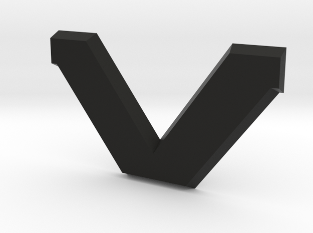 "SVO Decklid Emblem ""V"" - Large in Black Natural Versatile Plastic"