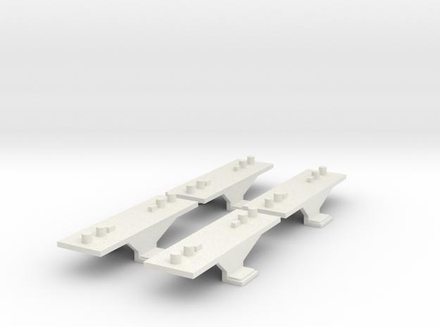 Container Adaptor for Roco/Fleischmann N scale wag in White Natural Versatile Plastic