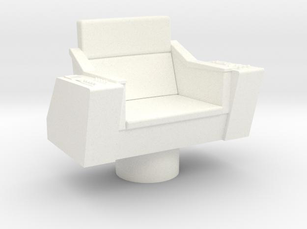 Bridge - Captain's Chair 06 in White Processed Versatile Plastic