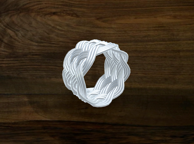 Turk's Head Knot Ring 6 Part X 8 Bight - Size 6.25 3d printed