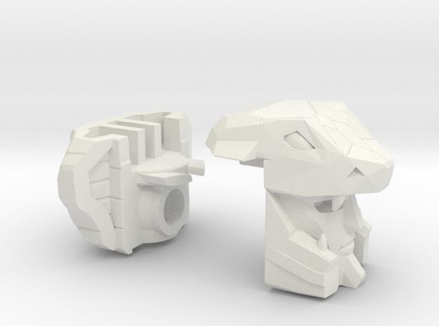 Naja Gunship Head Voyager in White Strong & Flexible