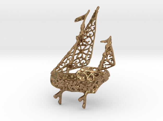 Galleon in Natural Brass