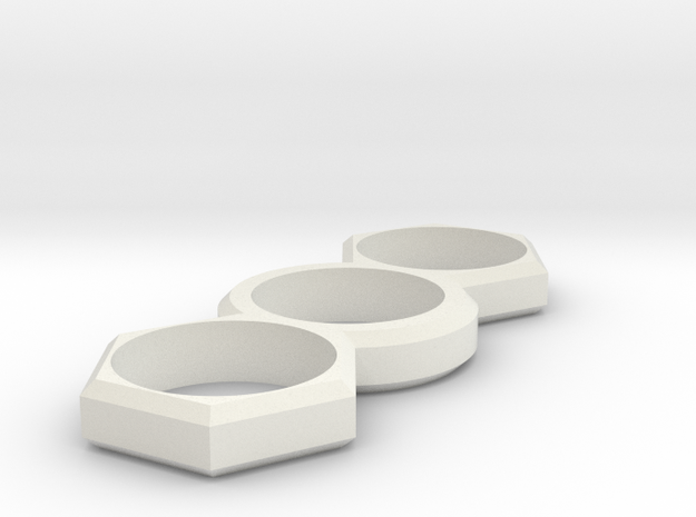 EDC Hexagon V1 in White Strong & Flexible