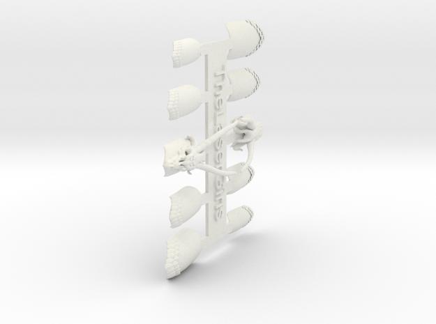 Dragon Master Nails (Size 0) 3d printed