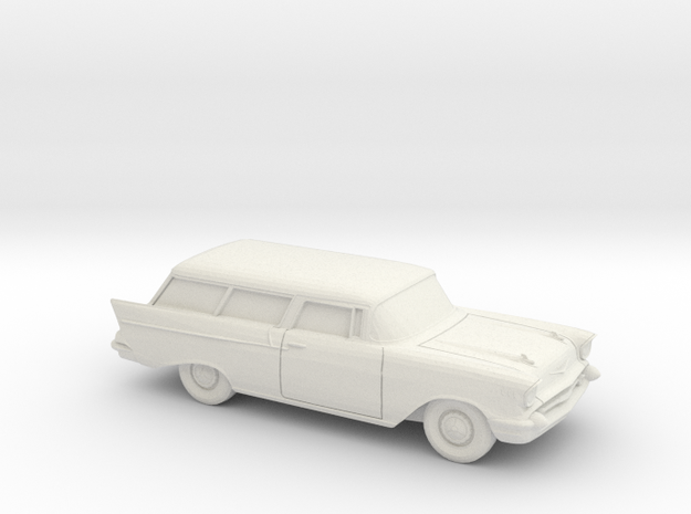1/87 1957 Chevrolet One Fifty Nomad in White Strong & Flexible