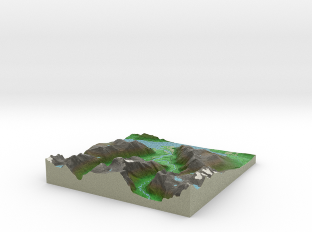 Terrafab generated model Wed Oct 12 2016 11:30:33  in Full Color Sandstone